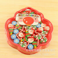 30 pc Mini Christmas Tree Santa Claus Snowman Xmas Candies Rubber Erasers Gift