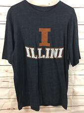 American Classic Uni Sex Size XL SportsWare Illinois Navy Short Sleeve T shirt