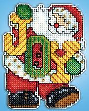 Cross Stitch Kit ~ Design Works Joy Letters Santa Christmas Ornament PC #DW566