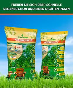 Rasenpellets Regeneration ummantelte Rasensamen Neuanlage + Reparatur (1,5 KG)
