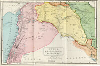 Antique Map Of Syria Mesopotamia Assyria  1907