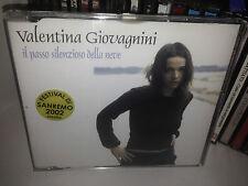 VALENTINA GIOVAGNINI IL PASSO SILENZIOSO DELLA NEVE RARO CD SINGOLO SANREMO 2002