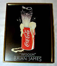 """WOOSH"" Brian James EXPLODING COCA-COLA CAN 11x14 Framed Pop Art Print Athena"