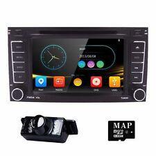 Car DVD GPS Player Navigation Bluetooth Head Unit SWC BT for VW Seat + Camera