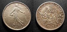 IIIème République - 5 francs semeuse 1963 - F.340/7