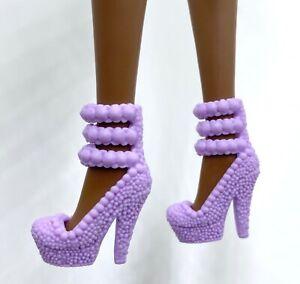 Chaussures Pour Barbie Lilas De Talon Mode Royalty Neuf Poupée Cadeau Edition