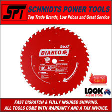 """Freud D1040A Diablo 40t 10"""" 255mm ATB Miter Saw & Table Saw Blade 40 Tooth"""