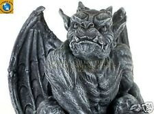 "Perching Winged King Kong Gargoyle Statue 7"" H Figurine Faux Stone Resin"