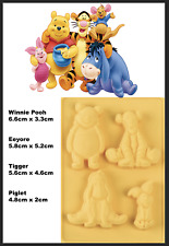 Winnie Pooh Bear Tigger Silicone Mold Cake Clay Silicon Baking Fondant Mould