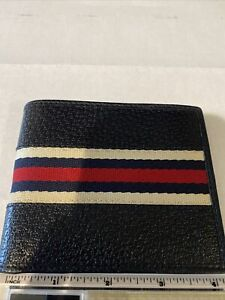 GUCCI wallet, Bi-fold Wallet - Leather Canvas Combo