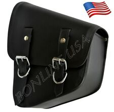 Left Side Solo Swing Arm Bag For Harley Softail Motorcycle Tool Bag Double Strap