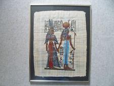 Ägyptisches Bild gemalt auf Papyros ca. 50 x 40 cm