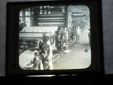 VINTAGE COLLECTIBLE GLASS PICTURE NEGATIVE Making Wrapping Paper Marinette Wis
