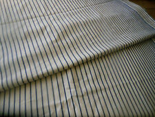 Antique French Cotton Ticking Mattress Bed Cover ~ Unique Blue Stripe Fabric