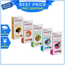BRAVECTO for Dogs Flea and Tick treatment for 3 months 1 chew FREE Shipping