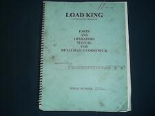 Load King Gooseneck Trailer Parts Operator Operation Amp Maintenance Manual Book