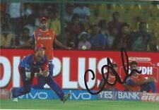 DELHI DAREDEVILS: COREY ANDERSON SIGNED 6x4 IPL ACTION PHOTO+COA