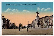 PORTUGAL LISBOA Lisbonne Praça duque de saldanha carte couleur