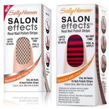 (2) Sally Hansen Salon Effects Real Nail Polish Strips MISBEHAVED, STRIPE-TEASE