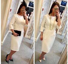 Fee G Ivory dress RRP £210 size 10 12 14