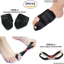 PEDIMEND Hallux Valgus Corrector Toe Belt(1PCS) & Nighttime Bunion Splint (2PCS)