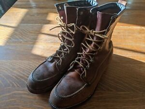 Vintage Moc Toe Steel Toe Boots 1950s(?)