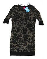 George Black Geometric Cotton Blend Womens Dress Top Size 10 (Regular)