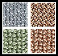 Mosaikfliesen Naturstein Glas Rot Braun 23x23x8mm