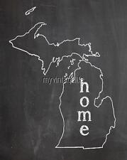 "MICHIGAN HOME STATE PRIDE 2"" x 3"" Fridge MAGNET CHALKBOARD CHALK COUNTRY"