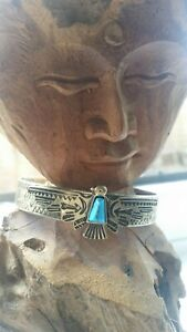 Bronze Native American Bracelet Blessed Cleansed turquoise tribal eagle shamanic