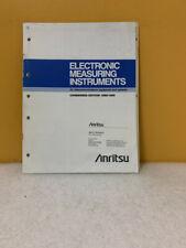 Anritsu Electronic Measuring Instruments Catalog