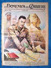 La Domenica del Corriere 12 agosto 1956 Col.Nasser - Fiume Po - Learco Guerra