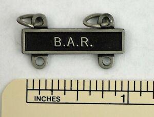 B. A. R.  MARKSMANSHIP BADGE TAB / BAR - BAR ARMY QUALIFICATION ATTACHMENT
