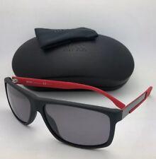 Polarizado Óculos de sol Hugo Boss 0637 S HXA3H 60-15 Preto Fibra De 238c4fe882