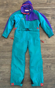 Vintage 90s Columbia Mens: Snow Full Body Ski Suit, Large Retro Radial Sleeve