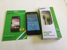 ZTE Overture 2 Smartphone Cricket Blue Android Phone With FREE Screen Protection