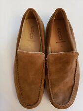 Ecco Mens Suede Leather Slip On Loafers Moccasins Mens Size 42