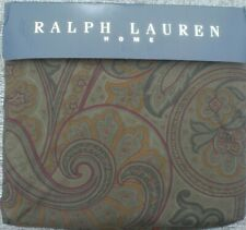 RALPH LAUREN  WEST HIGHLAND OLIVE  PAISLEY  KING  FITTED  SHEET  3PC SET BRIANNA