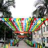 8 m drapeau coloré triangle fanion chaîne bannière festival fête dé TRFR