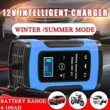 Caricabatteria Auto Moto intelligente 12V 5A a carica automatica con display LCD
