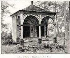SACRO MONTE DI ORTA. Orta San Giulio. Lago d'Orta. Novara. Stampa Antica. 1889