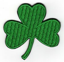 IRISH SHAMROCK Embroidered GREEN CLOVER PATCH
