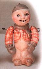 Salamander Poliwoggs Miniature Figurine JOINTED SNOWMAN IN PLAID SHIRT Retired