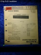 Sony Service Manual TA AX350 Amplifier (#3651)