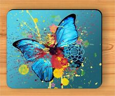 BUTTERFLY COLORFUL ABSTRACT FASHION DESIGN MOUSE PAD -slb7Z
