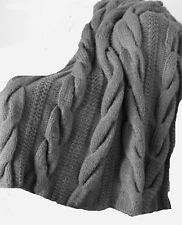 Lovely easy Knit Cable Blanket- Kntting pattern- lovely in super chunky wool