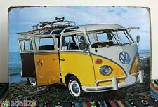 VW Volkswagen Samba Deluxe T1 Combi Bus Metal Tin Sign Garage Auto Deco Kombi Ad