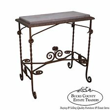 Wrought iron tables ebay for Wrought iron table bases marble top