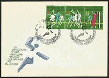 Germany (East) DDR GDR 1974 FDC Sport Men's Handball Championships se-tenant