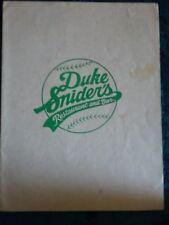 Brooklyn Dodgers Duke Snider Restaurant and Bar menu
